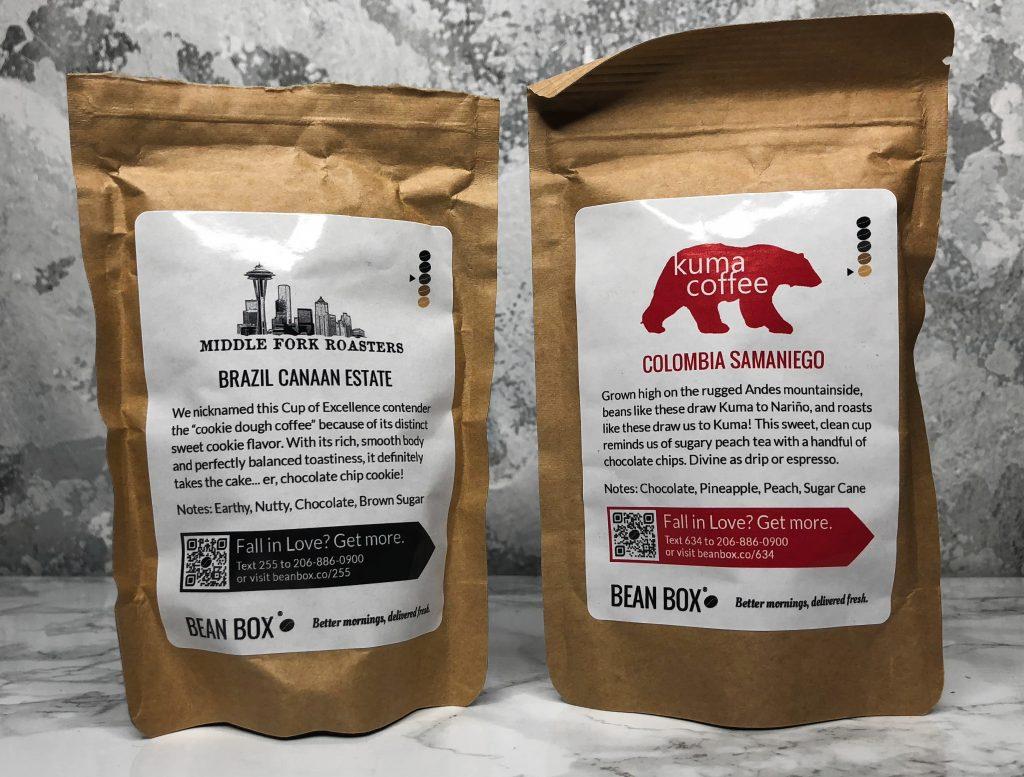 Bean Box Review Brazil Canaan Estate and Columbian Samaniego