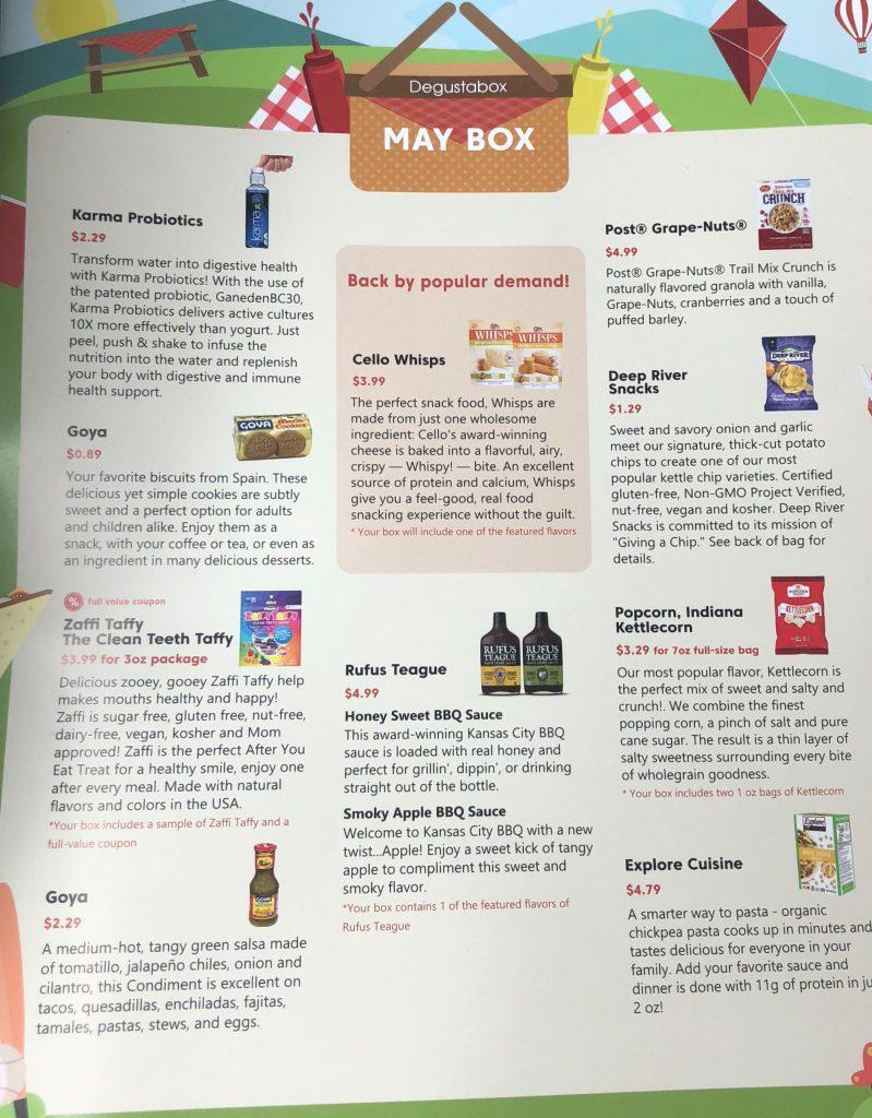 Degustabox Review - Information Sheet