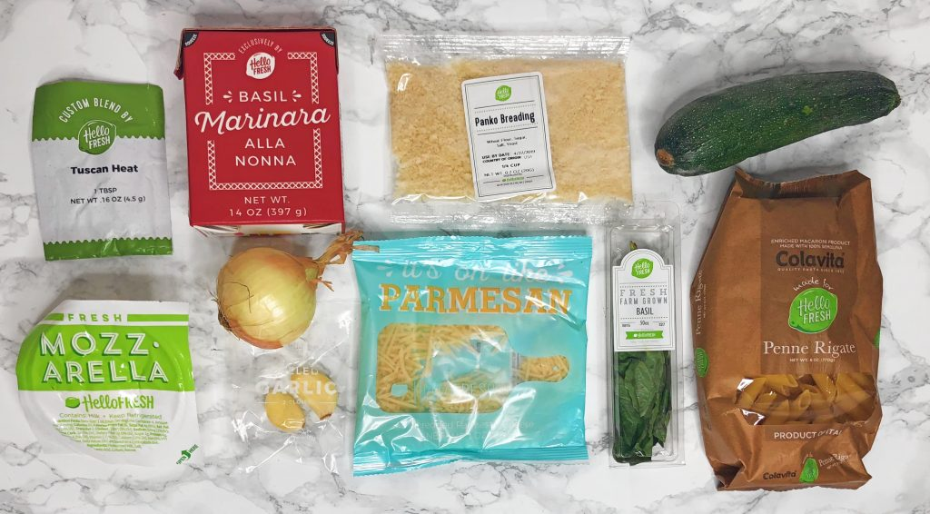 Open Box Hellofresh  Meal Kit Delivery Service