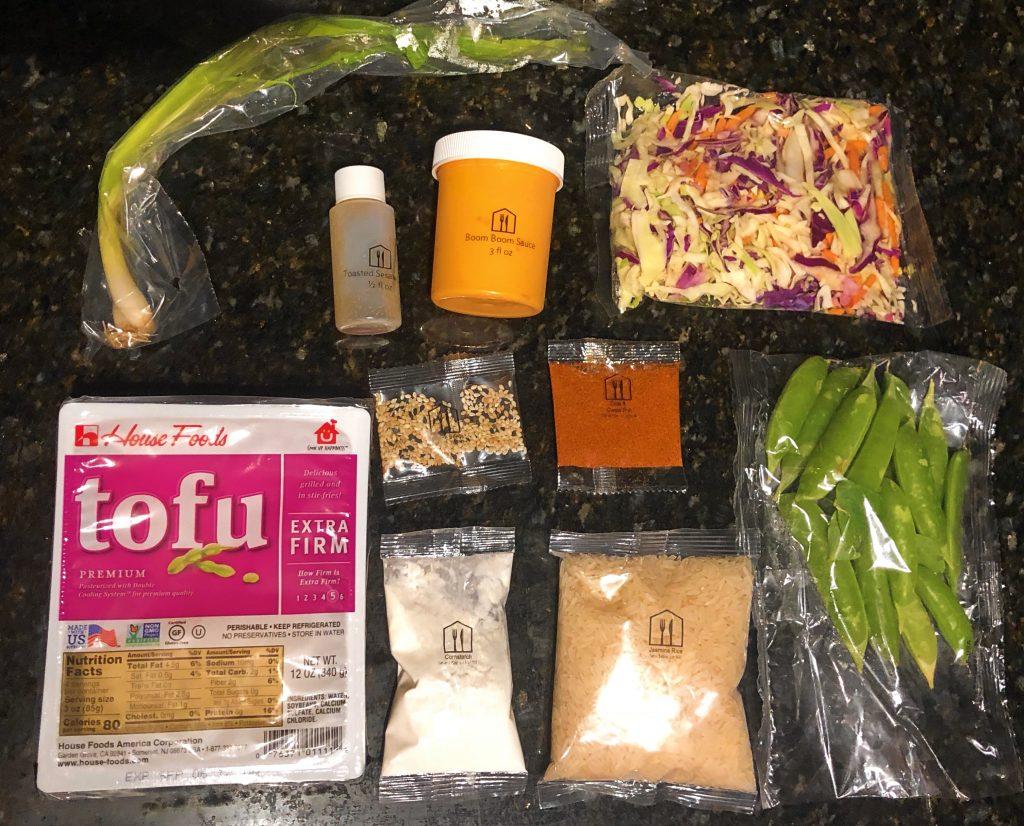 Home Chef Reviews - Bang Bang Tofu Ingredients