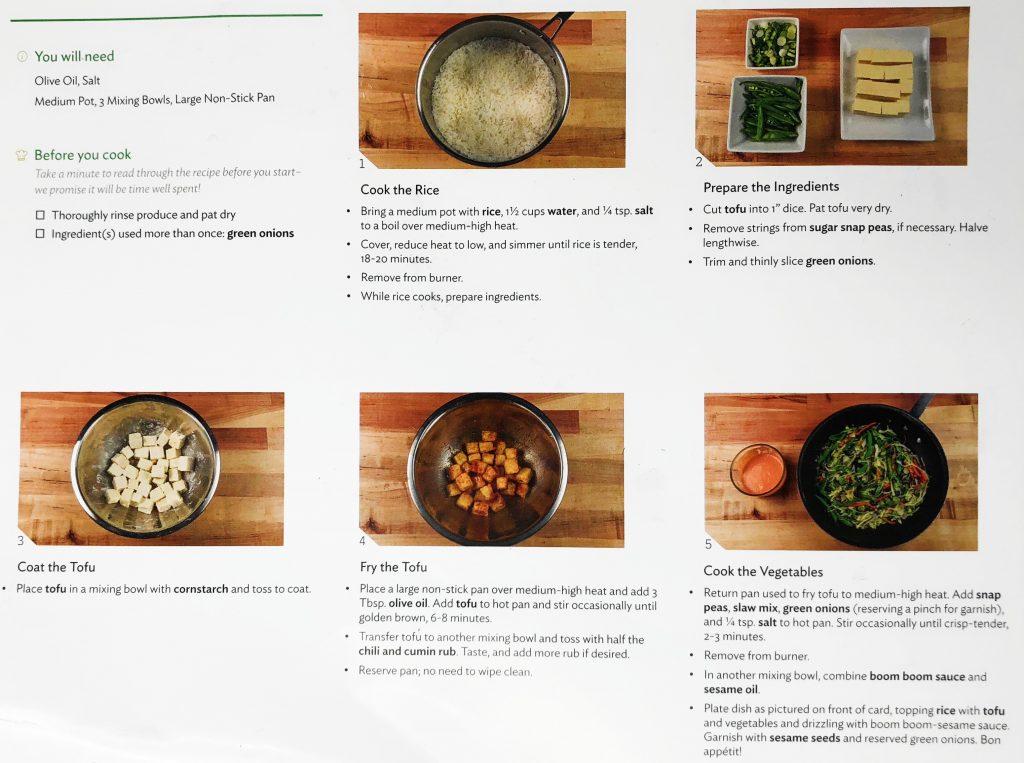 Home Chef Reviews - Bang Bang Tofu Recipe