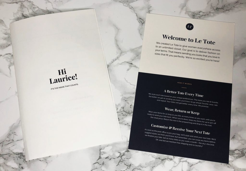 Le Tote Reviews - Information Booklets