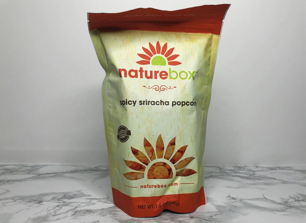 Naturebox Review - Spicy Sriracha Popcorn