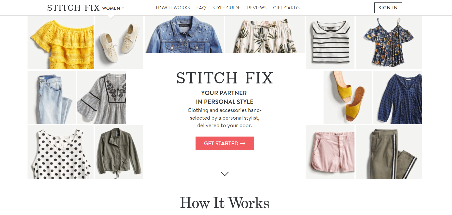 Stitch Fix Review - Website Experience