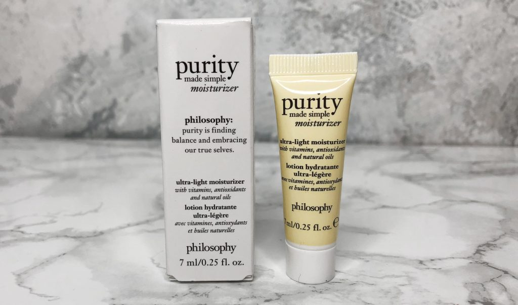 Birchbox Review - Philosophy Purity Moisturizer Review