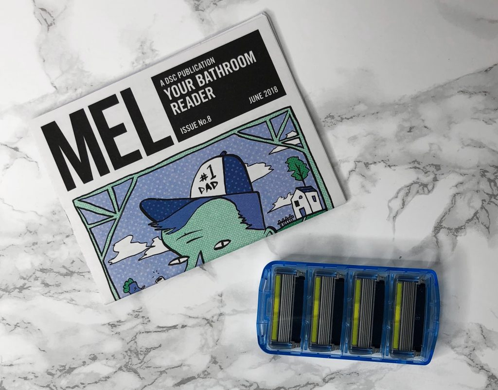 Dollar Shave Club Review - Bathroom Reader and Cartridges