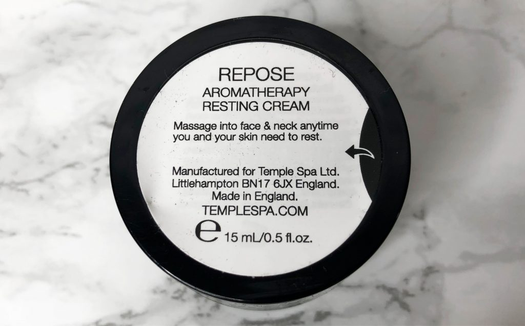 Glossybox Review - Repose Resting Cream