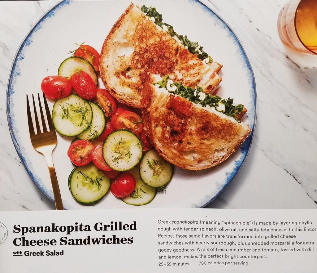 Plated Reviews - Spanakopita Grilled Cheese Sandwiches with Greek Salad