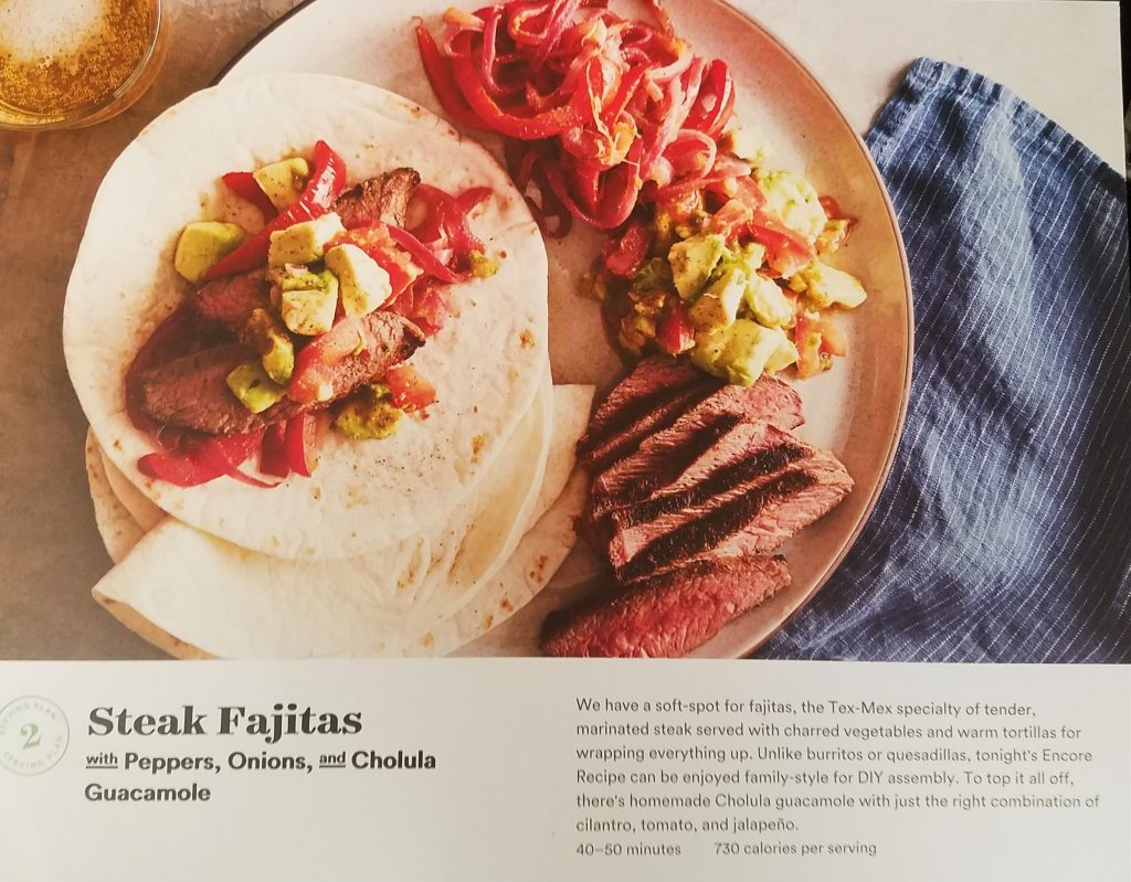 Plated Reviews - Steak Fajitas