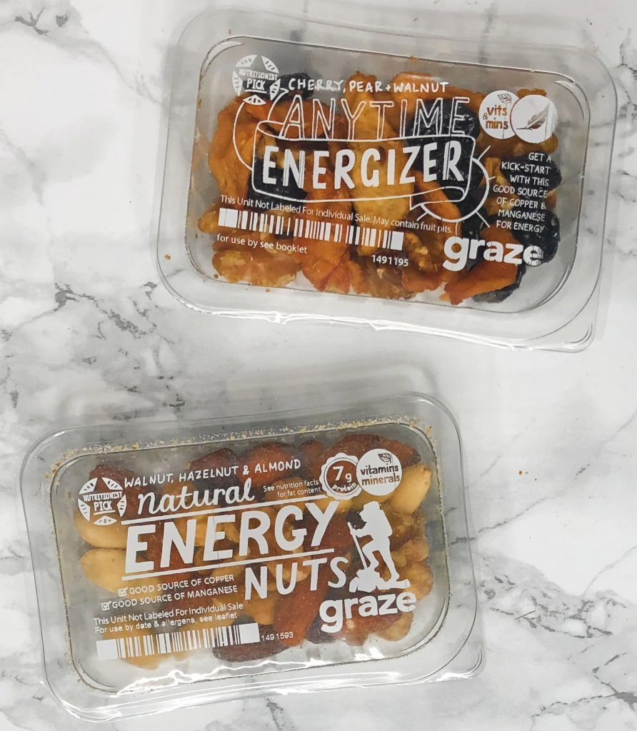 Graze Review - Anytime Energizer and Natural Energy Nuts Review