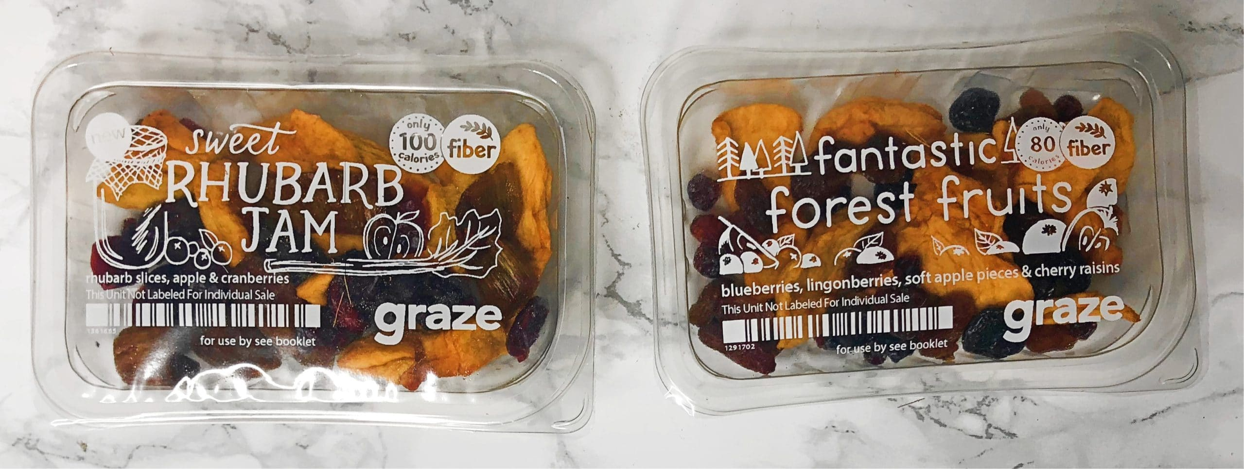 Graze Review - Sweet Rhubarb Jam and Fantastic Forest Fruits Review
