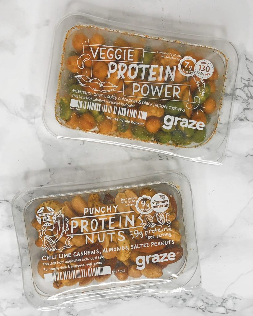 Graze Reviews - Veggie Protein Power and Punchy Protein Nuts