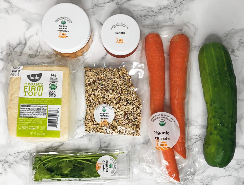 Sun Basket Review - Harissa Tofu & Quinoa Bowls