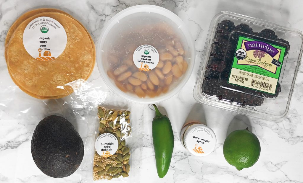 Sun Basket Review - White Bean Tostadas Recipe