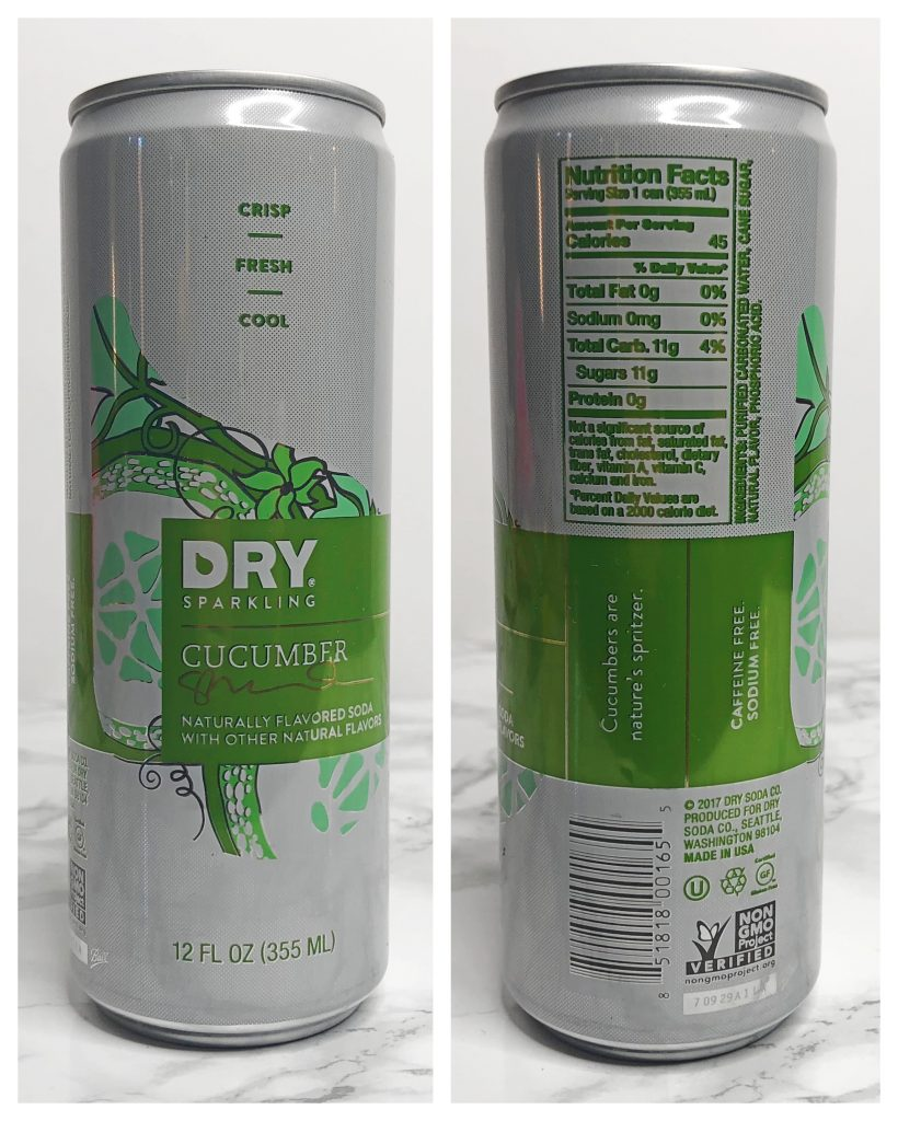 Urthbox Reviews - Dry Sparkling Cucumber Soda