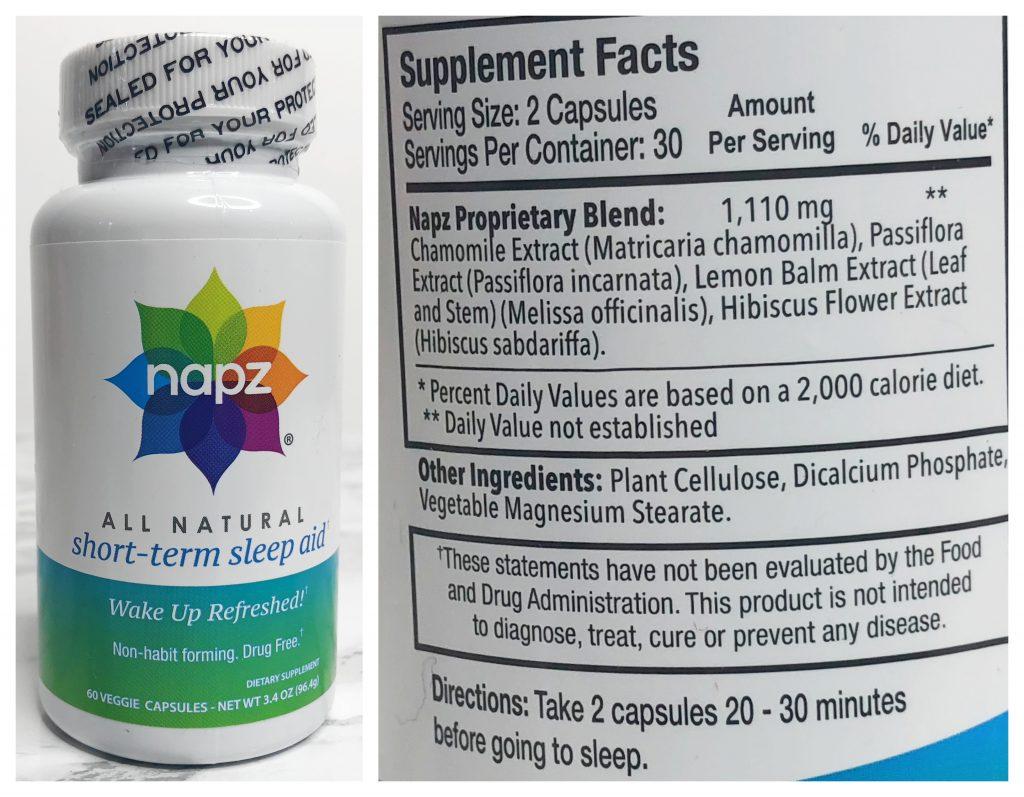 Urthbox Reviews - Napz All Natural Short-Term Sleep Aid