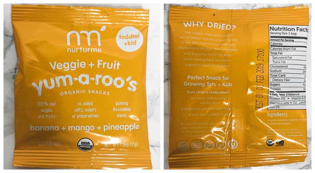 Urthbox Reviews - Nuturme Yum-A-Roo's Organic Snacks