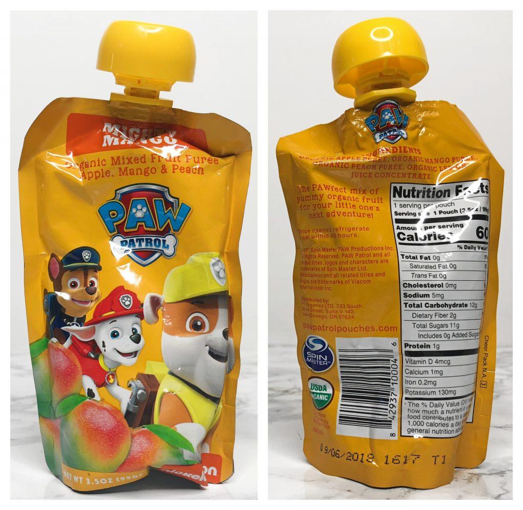 Urthbox Reviews - Paw Patrol Fruit Puree Mighty Mango