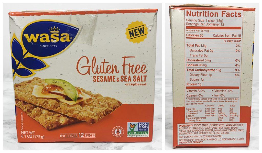 Urthbox Reviews - Wasa Gluten-Free Crispbread Sesame & Sea Salt