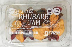 Graze Reviews - Sweet Rhubarb Jam Snack Pack