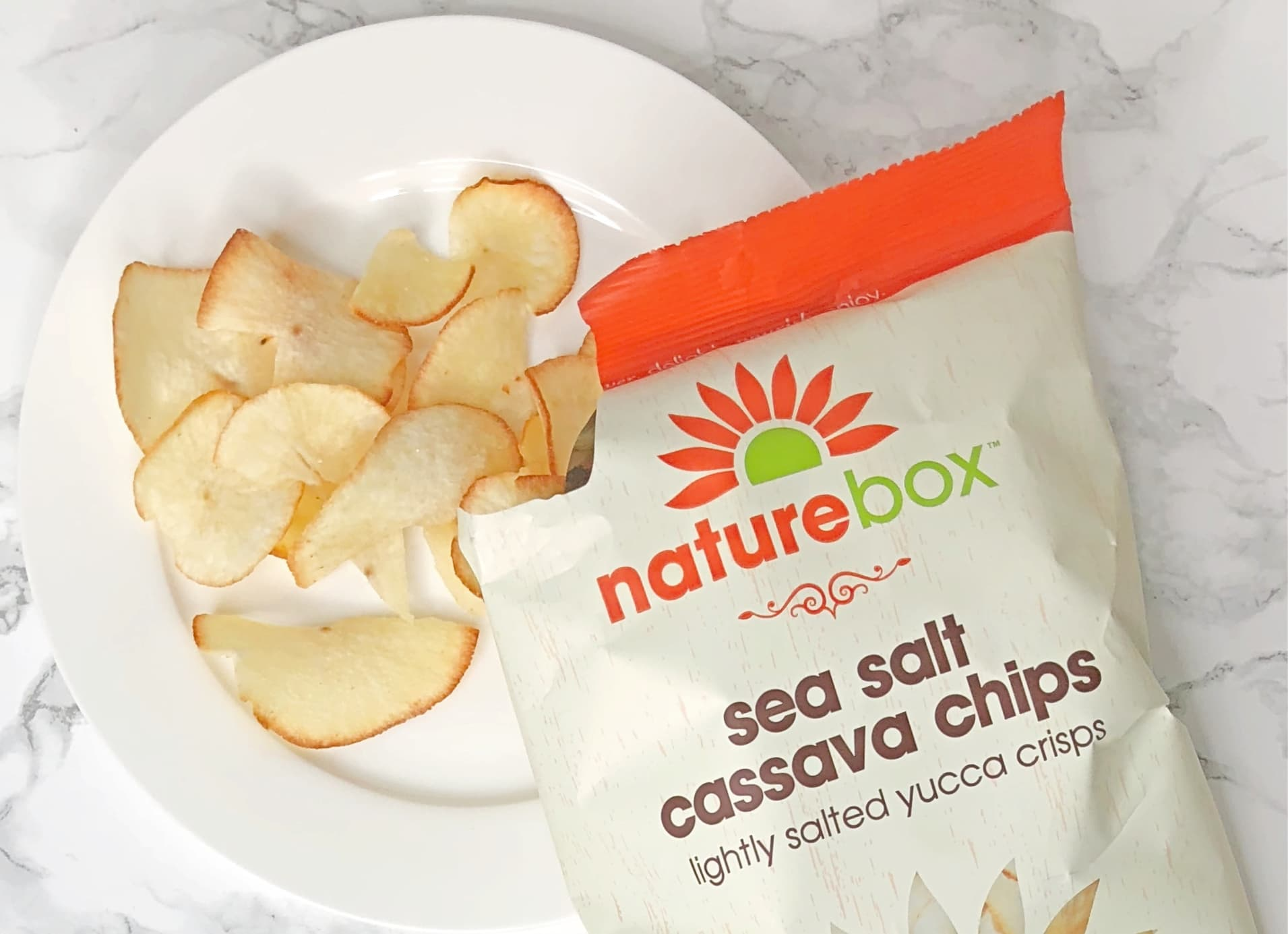 Naturebox reviews - sea salt cassava chips