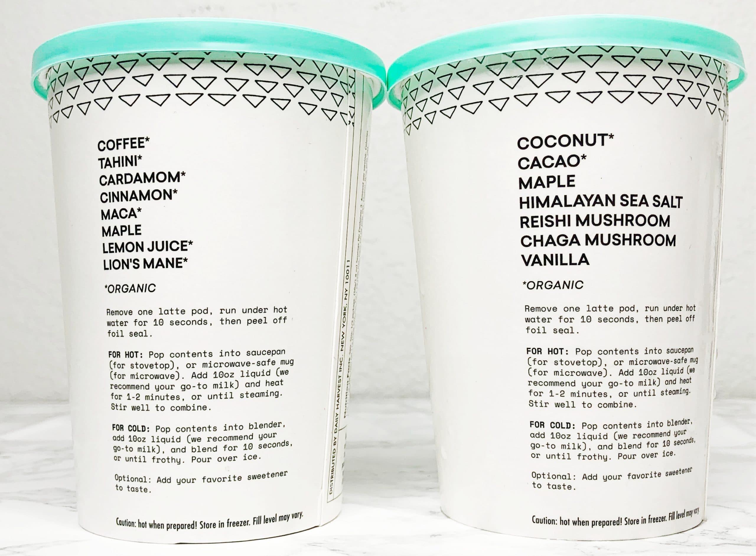 Daily Harvest Ingredients Latte