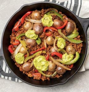 Vegan Chorizo Fajita Skillet