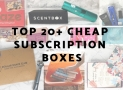 Top 20+ Cheap Subscription Boxes